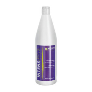 white bottle with purple label for Artero intensifying shampoo in Alaska.