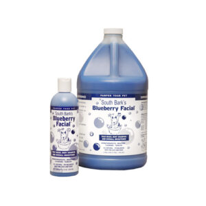 blueberry facial shampoo with 2 bottle sizes for animals in alaska.