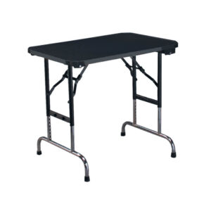 grooming table for pets in alaska, black color with white background, standard table
