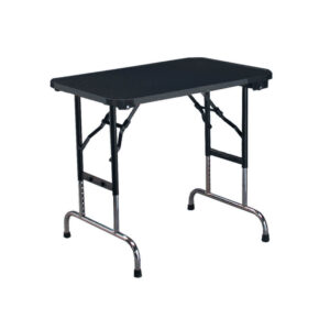 grooming table for pets in alaska, black color with white background, toy grooming table adjustable