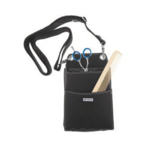 Artero Chic black bag on white background for animal grooming in Anchorage, Alaska.