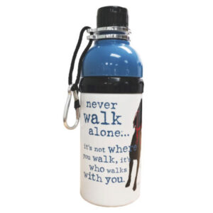 Dog is good water bottle in Anchorage, Alaska.